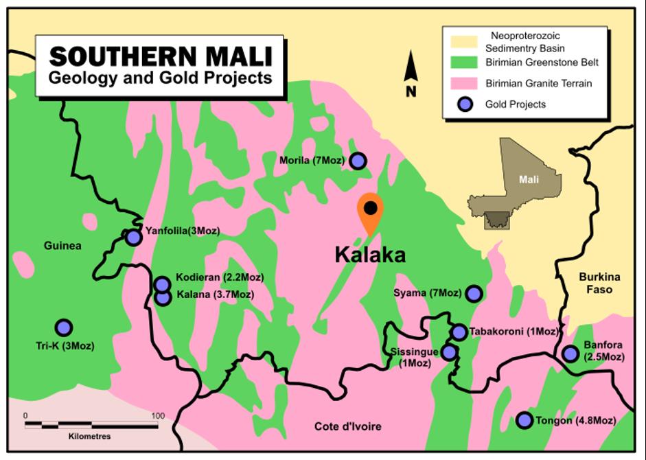 Figure 1: Kalaka Location Plan